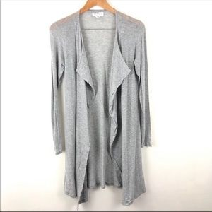 Velvet by Graham & Spencer Gray Drape Cardigan S